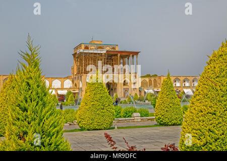 Isfahan Imam Square Ali Qapu Palace - Stock Photo