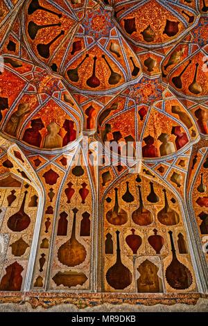 Ali Qapu Palace music hall - Stock Photo