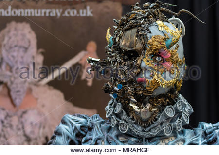 London, UK, 26th May, 2018 London. Tattooists artists from all over the world converged on Alexandra palace in North London for the Great British Tattoo Show Credit: Dave Nash/Alamy Live News - Stock Photo