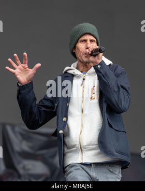 Napa, California, USA. 25th May, 2018. MIKE D (MICHAEL LOUIS DIAMOND) of the Beastie Boys during BottleRock Music Festival at Napa Valley Expo in Napa, California Credit: Daniel DeSlover/ZUMA Wire/Alamy Live News - Stock Photo