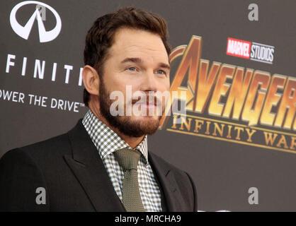 Avengers: Infinity War Premiere held in Los Angeles, California  Featuring: Chris Pratt Where: Los Angeles, California, United States When: 23 Apr 2018 Credit: Adriana M. Barraza/WENN.com - Stock Photo