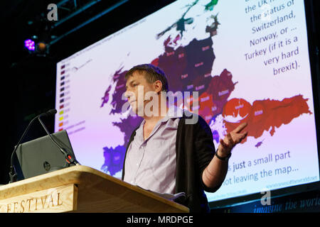 Pictured: Danny Dorling Re: Hay Festival at Hay on Wye, Powys, Wales, UK. Friday 25 May 2018 - Stock Photo