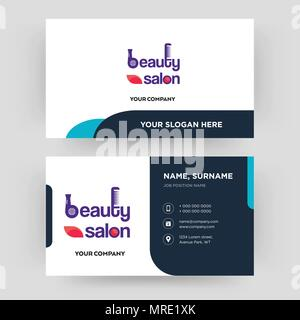 Beauty Salon Business Card Design Template Visiting For Your