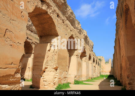 Former Royal Stables of Moulay Ismail, Meknes, Morocco - Stock Photo
