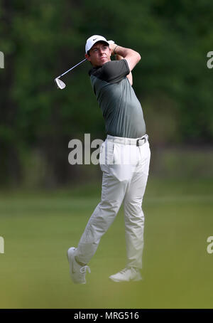 Northern Ireland's Rory McIlroy in action during day three of the 2018 BMW PGA Championship at Wentworth Golf Club, Surrey. - Stock Photo