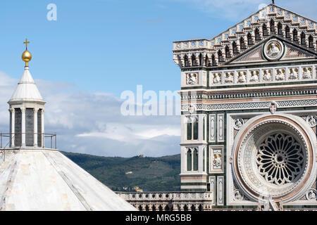 Battistero di San Giovanni, Cattedrale di Santa Maria del Fiore, Florence, Tuscany, Italy, Europe, - Stock Photo