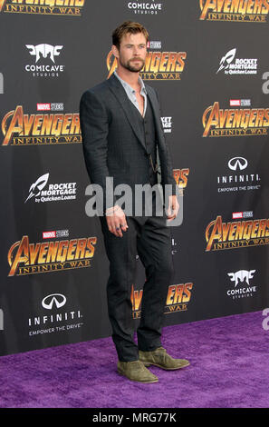 Avengers: Infinity War Premiere held in Los Angeles, California  Featuring: Chris Hemsworth Where: Los Angeles, California, United States When: 24 Apr 2018 Credit: Adriana M. Barraza/WENN.com - Stock Photo