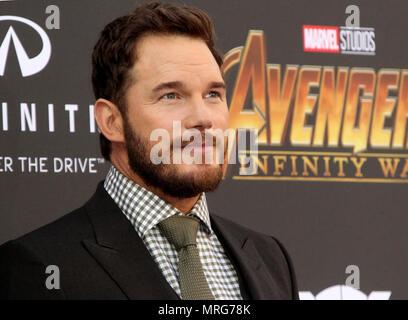 Avengers: Infinity War Premiere held in Los Angeles, California  Featuring: Chris Pratt Where: Los Angeles, California, United States When: 24 Apr 2018 Credit: Adriana M. Barraza/WENN.com - Stock Photo
