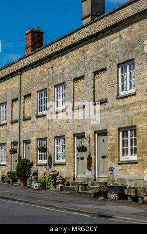 Houses in Cecily Hill, Cirencester, Gloucestershire - Stock Photo
