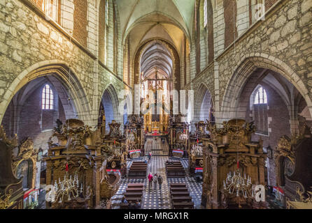 Krakow, Poland - the second biggest city in Poland, Krakow offers dozens of interesting churches , like the Corpus Christi Basilica in the picture - Stock Photo