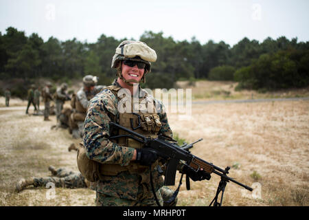 Corporal Ben Gaige, a field radio operator assigned to