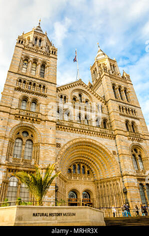 Natural History Museum designed by Alfred Waterhouse, established in 1881, located in South Kensington, London, UK. - Stock Photo
