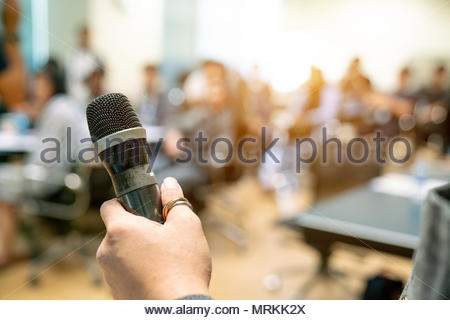 The Businessman in the auditorium. - Stock Photo