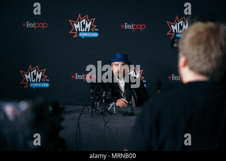 London, UK. 26th May, 2018.  Guests, attendees, celebrities at MCM London Comic Con in Summer, May 2018. Fans gathered to celebrate popular culture with talks, exhibitions, signings, and meetups. © Simon King/ Alamy Live News - Stock Photo
