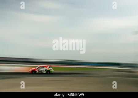 Towcester, Northamptonshire, UK. 27th May, 2018. ARX driver Scott Speed (GBR) and Volkswagen Andretti Racing drives during Americas Rallycross Championship at Silverstone (Photo by Gergo Toth / Alamy Live News) - Stock Photo