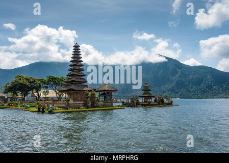 Pura Ulu Danau temple scenery in Bali,Indonesia - Stock Photo