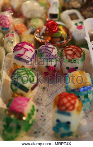 candy skulls for sale during the day of the dead dia de los muertos
