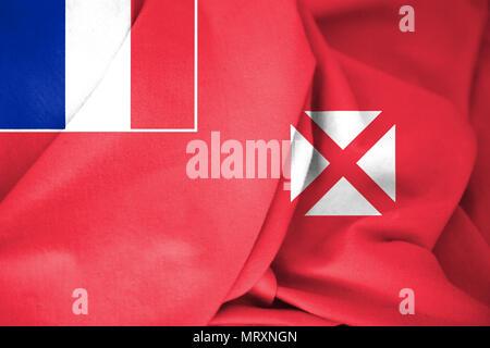 3D Flag of Wallis And Futuna. 3D Illustration. - Stock Photo