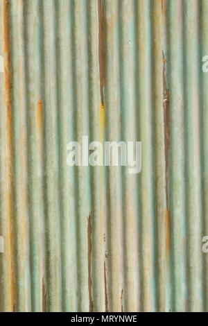 Texture of metallic old rusted iron sheet - Stock Photo