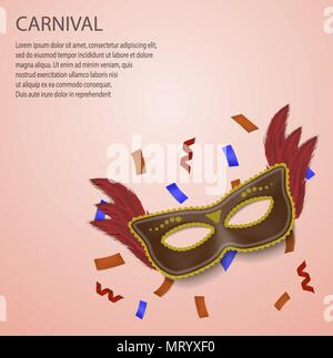 Carnival concept background, realistic style - Stock Photo