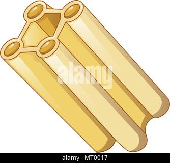 Italian pasta icon, cartoon style - Stock Photo