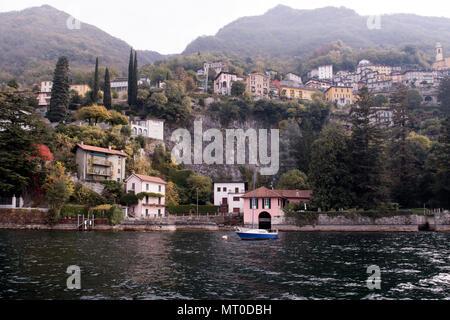 Pognana Lario at Lake Como, Lombardia, Italy - Stock Photo