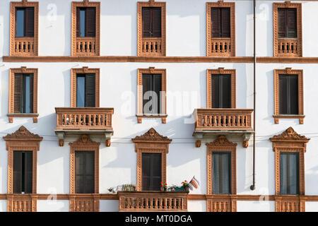 Full Frame Shot Of Apartment,milano,italy - Stock Photo