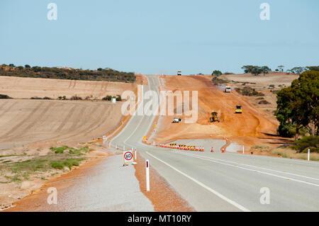 Highway Upgrade Construction - Stock Photo