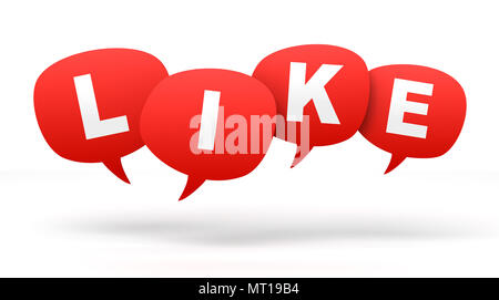 like speech bubbles 3d concept illustration isolated on white background - Stock Photo