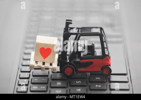 Computer Keyboard With Heart Symbol On It Stock Photo 94635572 Alamy