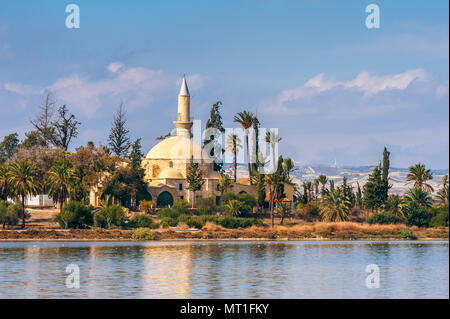 Hala Sultan Tekke Mosque in Larnaca Cyprus - Stock Photo