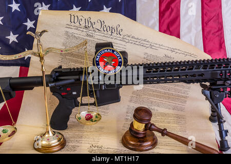 Bill Of Rights We The People With Wooden Gavel And