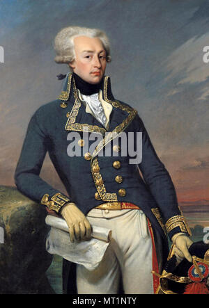 Gilbert du Motier Marquis de Lafayette, Marie-Joseph Paul Yves Roch Gilbert du Motier, Marquis de Lafayette (1757 – 1834), French aristocrat and military officer - Stock Photo