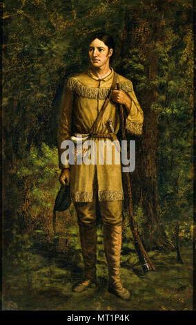 Davy Crockett, David 'Davy' Crockett (1786 – 1836) 19th-century American folk hero, frontiersman and politician - Stock Photo