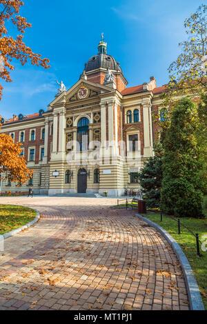 Building of University of Economics in Krakow. Poland - Stock Photo