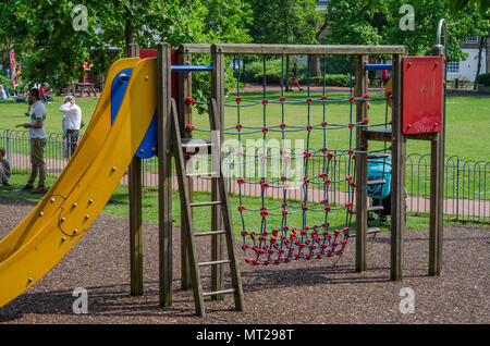 A climbing frame in the children's playground at Batchlor's Acre in Windsor, Berkshire, UK. - Stock Photo