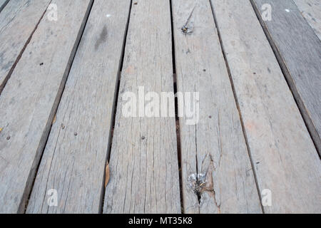 old wooden floor pattern textured and background - Stock Photo