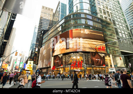 H&M store in Times Square in New York City. - Stock Photo