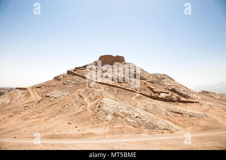 Zoroastrian Tower of Silence in Yazd, Iran. - Stock Photo
