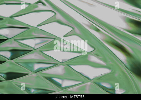 Macro abstract background image of beautiful defocused glass with diamond shape design patterns - Stock Photo