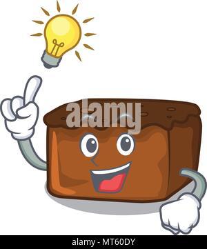Have an idea brownies mascot cartoon style - Stock Photo