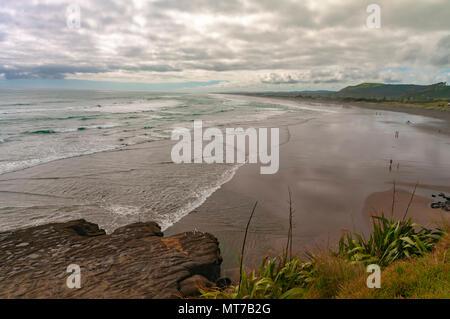 Muriwai Beach, North Island, New Zealand - Stock Photo