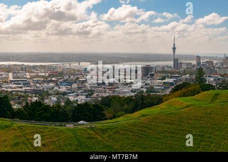 Mount Eden, Auckland, North Island, New Zealand - Stock Photo