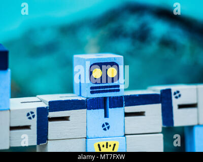 Robot - Beware the Robots are Coming - Stock Photo