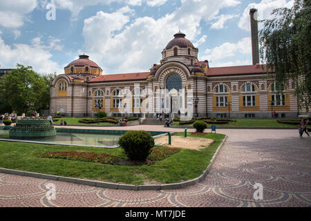 Central Mineral Baths building in Sofia, Bulgaria - Stock Photo