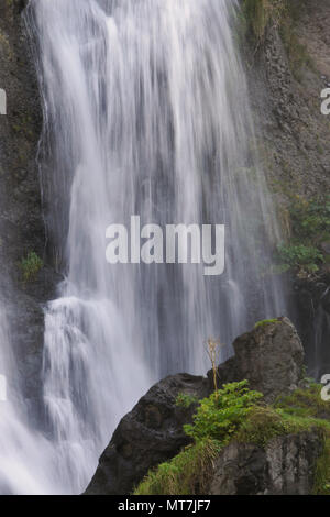 Shaki Waterfall on the Vorotan River, the largest waterfall in Armenia - Stock Photo