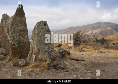 Karahunj (Carahunge) Observatory near the town of Sisian, Armenia