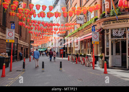 Chinatown, London, England, United Kingdom. - Stock Photo