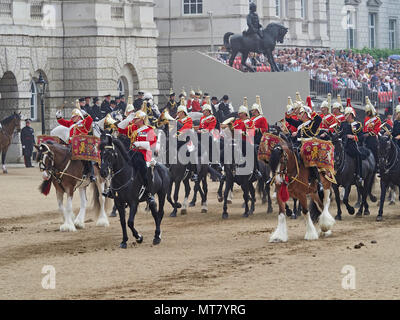 London the Major Generals Review in Horse Guards Parade a practice for Trooping the Colour the Queens Birthday Parade 2018 - Stock Photo
