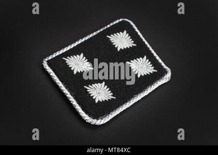 KIEV, UKRAINE - Feb 20, 2016. WW2 German Waffen-SS military insignia - Stock Photo